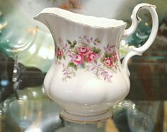 Check out our lavender selection for the very best in unique or custom, handmade pieces from our shops. Sugar Bowls And Creamers, Lavender Roses, Vintage Marketplace, Royal Albert, Bone China, Porcelain, England, Tea, Shower