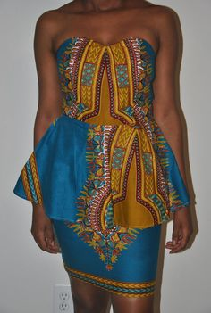 Dashiki Dress top and bottom Skirt and a by IONBafricanstyles, $72.99