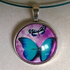 Your place to buy and sell all things handmade Teal Necklace, Wire Necklace, Collar Necklace, Wire Jewelry, Necklaces, Pendant Necklace, Earrings, Butterfly Jewelry, Butterfly Necklace