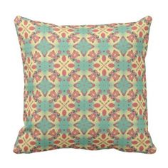Light Coral Color Moroccan Design - Modern Decor Throw Pillow - light gifts template style unique special diy
