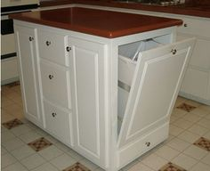 kitchen islands on wheels   The side next to the Kitchen sink has a hinged cabinet housing the ...