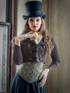 Steampunk   lady in top hat