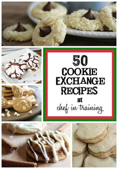 50 Cookie Exchange Recipes on chef-in-training.com This list is incredible! Everyone can find a cookie for the holidays this year in this amazing line up! #cookie #recipe
