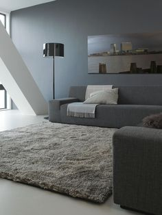 Parnasse is a tufted rug by the Dutch company Carpet Sign. This designer rug has a robust and warm quality. Made of wool and available in four colours. Simple Living Room, Living Room Grey, Home Living Room, Plush Carpet, Rugs On Carpet, Wool Carpet, Carpets, High Pile Rug, Carpet Trends