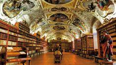 #library #monastery #prague #books