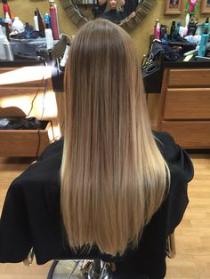 Beautiful Ombré! Love how the color melts from her natural to the light blonde