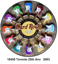 Hard Rock Cafe Guitar Pins Toronto