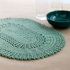I really love the style of this placemat.  They will look wonderful done up in bright colors on the patio table this summer!