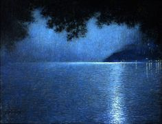 The Lake and the Night - Lucien Levy-Dhurmer  1910