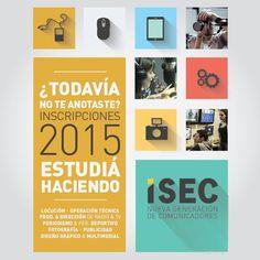 INCRIPCIONES 2015 EN ISEC  LOCUCIÓN – OPERACIÓN TÉCNICA – PRODUC. & DIRECCIÓN DE RADIO & TV – PERIODISMO & PER. DEPORTIVO – FOTOGRAFÍA – PUBLICIDAD – DISEÑO GRÁFICO & MULTIMEDIAL  Hacé tu consulta a un representante de #ISEC->http://quevasaestudiar.com/estudiar-en-Instituto-Sudamericano-para-la-Enseñanza-de-la-Comunicación-90?utm_source=qve&utm_medium=bnrslide&utm_campaign=isec