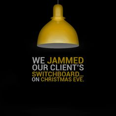 We jammed our client's switchboard... on Christmas Eve.  Our client's luxury brand sales went up by 67%...during a recession.  #adsynergy #itswhatwedo