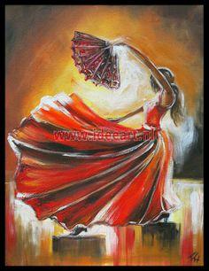 Schilderij dansende vrouw 6011