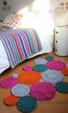 blog de decoração - Arquitrecos: Tapetes de crochet arrasando na decoração!