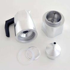 Make Designed Objects : Alessi Ossidiana Espresso Maker - 6 Cup