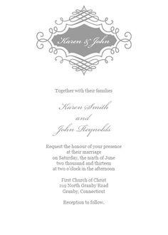 Convite de casamento com monograma