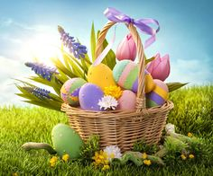 Easter wallpaper by _Lorelai_ - 82 - Free on ZEDGE™ Frühling Wallpaper, Spring Wallpaper, Happy Easter Wallpaper, Easter Egg Basket, Easter Stickers, Easter Pictures, Images Of Easter, Pictures Images, Hd Images