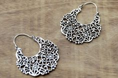 Gypsy Earrings Boho Earrings Silver Hoop от GypsyWindsJewelry