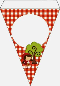 Festa Party, Diy Party, Red Riding Hood Party, Little Red Ridding Hood, Frame Clipart, Red Hood, Party Printables, Bunting, Nursery Decor