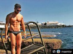 #photography by @maemisr  Playeo.. #tenerifelicidad #caleta #caletadeadeje #instafit #fit #azul #mar #ensalitrado #quesuerteviviraqui Swimwear, Instagram Posts, Blue Nails, Bathing Suits, Swimsuits, Swimsuit, Costumes