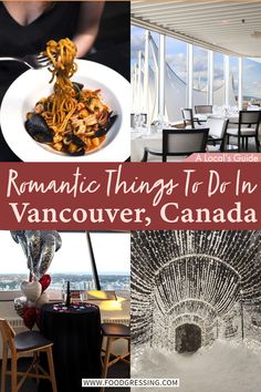From exploring the beautiful landscape to enjoying the city's magnificent cuisines, there are lots of romantic things to do in Vancouver. Here are some ideas that cover fun things to do, affordable (free) activities, seasonal adventures, where to eat and drink and more. #Vancouver | Vancouver Things to Do | Vancouver Restaurants | Vancouver Canada | Vancouver Getaway | Vancouver Travel | Romantic Travel | Canada | BC Travel | Vancouver,BC | Vancouver Hotels | Vancouver 2021 | Vancouver Gastown Romantic Escapes, Romantic Vacations, Romantic Getaways, Romantic Travel, Couple Activities, Free Activities, Romantic Things To Do, Fun Things, Vancouver Activities