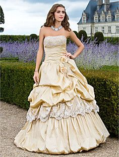 Ball Gown Strapless Floor-length Taffeta Evening Dress  – USD $  big dress, old fashioned wedding style