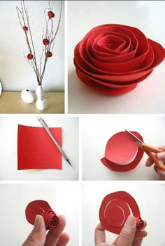 How to make easy diy spiral paper flowers crafts pinterest diy guests wont believe these flowers are made of paper oh crafts shares their extremely quick and super simple diy room dcor paper flower tutorial for you mightylinksfo