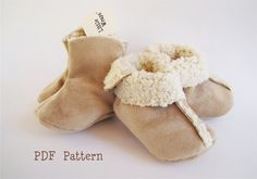 Baby Boot Pattern PDF / Sewing / Little Wraps 3 Piece Bootie Pattern