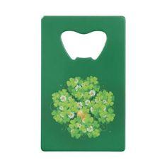 Lucky Charm Shamrock Credit Card Bottle Opener  $13.35  by gifts4u  - custom gift idea