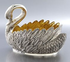 Faberge sterling Swan form centerpiece