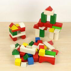 木のおもちゃの定番 積み木70ピース