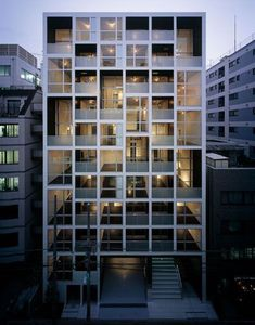 Best Ideas For Modern House Design : – Picture : – Description Tokyo Apartment Building by aat+makoto yokomizo, architects Inc. Facade Architecture, Residential Architecture, Contemporary Architecture, Classical Architecture, Sustainable Architecture, Japanese Architecture, Ancient Architecture, Landscape Architecture, Tokyo Apartment