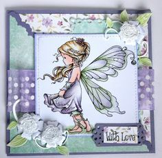 Whimsy-Silver Fairy stamp