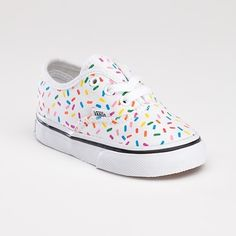 Sprinkles Authentic, Toddlers Need these for Ellie! Cute Baby Shoes, Baby Girl Shoes, My Baby Girl, Baby Love, Toddler Shoes, Kid Shoes, Vans Shoes, Girls Shoes, Baby Girl Fashion