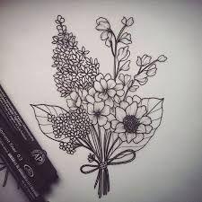 Resultado de imagem para tatuagem bouquet delicado