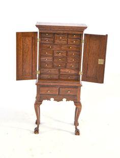 Nicole Walton-Marble, IGMA artisan and Gerald Crawford - apothecary cabinet