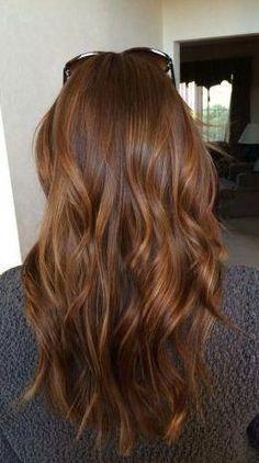 copper brown blonde hair