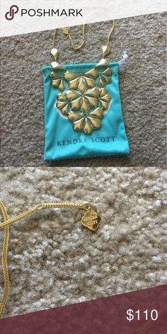 Kendra Scott gorgeous gold statement bib necklace Amazing hard to find Kendra Scott gold bib necklace, perfect condition never worn, purchased without tag but its brand new :/ comes with dust bag! Kendra Scott Jewelry Necklaces