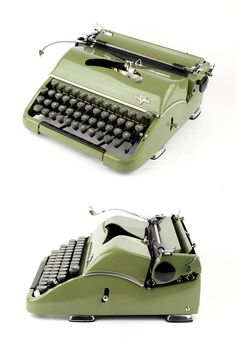 Working typewriter Groma N 50s apple green excellent