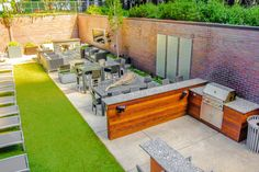 fire pit, outdoor living, roof deck, sunbrite TV, glass screening, outdoor kitchen from chicagoroofdeck.com