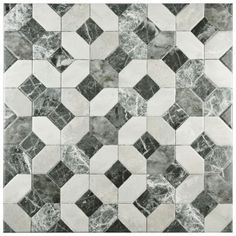 SomerTile 17.75x17.75-inch Capriccio Gris Ceramic Floor and Wall Tile (Case of…