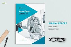 Great Annual Report 2016 CreativeWork247 - Fonts, Graphics, Themes, Template...
