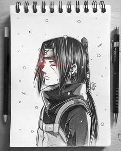 Naruto Drawings Easy, Naruto Sketch Drawing, Anime Drawings Sketches, Anime Sketch, Itachi Uchiha, Naruto Shippuden Sasuke, Sasuke Sakura, Boruto, Anime Naruto