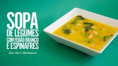 Receita de Sopa de Legumes com Feijão Branco e Espinafres