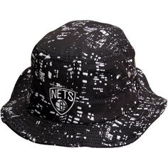 c61d76ce058 Brooklyn Nets adidas Black City Lights Bucket Hat