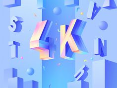 Connect with this designer on Dribbble, the best place for to designers gain inspiration, feedback, community, and jobs worldwide. 3d Typography, Graphic Design Typography, Branding Design, Lettering, Design Campaign, 3d Type, Poster Fonts, Isometric Art, Pop Art Girl
