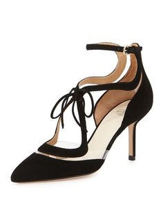 Francesco Russo Suede Floating Lines Pump, Nero Suede Pumps, Pointed Toe Pumps, High Heel Pumps, Pumps Heels, Creative Shoes, Shoes World, Only Shoes, Spring Shoes, Designer Shoes