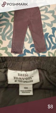 little maven By Tori Spelling NWOT NWOT, these adorable little maven By Tori Spelling, will keep your little guy fashion forward!!! Made of 100% cotton and machine washable (see instructions), he'll be comfy and coordinated! little maven By Tori Spelling Bottoms