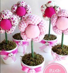 DIY spring centerpiece - plush flowers with pots // Pufi plüss virágok - cserepes virágok textilből // Mindy - craft tutorial collection // #crafts #DIY #craftTutorial #tutorial #MothersDayCrafts #FathersDayCrafts