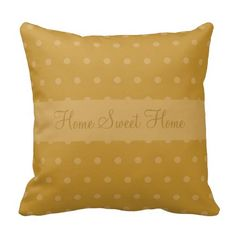Fall Leaf Yellow Pillow ...........This design features a fall leaf yellow color for the autumn/fall season. The TEXT can be customized with your own.