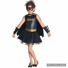 Too Cute . Halloween coming soon. Prepare your dress now!! Disney Bat Girl tutu dress Halloween costume -895 rb Size: Medium (5-7 Y) -100% Polyester -Batgirl pull-over costume dress with glittery logo removable cape eye mask belt and gauntlets -Elastic waist where sparkly tutu starts falls just below natural waist; some children may prefer to wear with leggings -Officially licensed DC Comics. #halloweencostume #halloweencostumeready #jualcostumehalloween #jualcostume